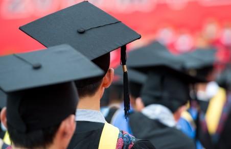 Queue of graduates