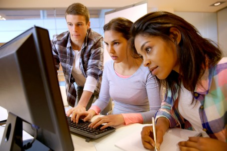 Young people at work