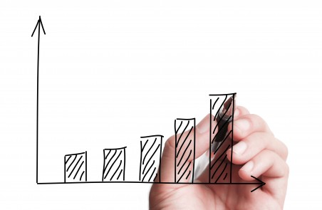 graph upward chart growth