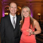 Rebecca Esplin from Berry Recruitment in Stafford has been promoted to operations manager. She is pictured here with Chairman Tony Berry.